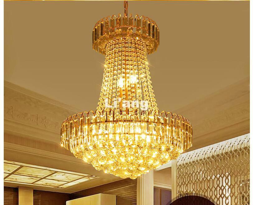 Moderna lámpara De araña dorada E14 De cristal con 5 luces, Lustre De cristal, Lustres De cristal, lámpara colgante De cristal 2017