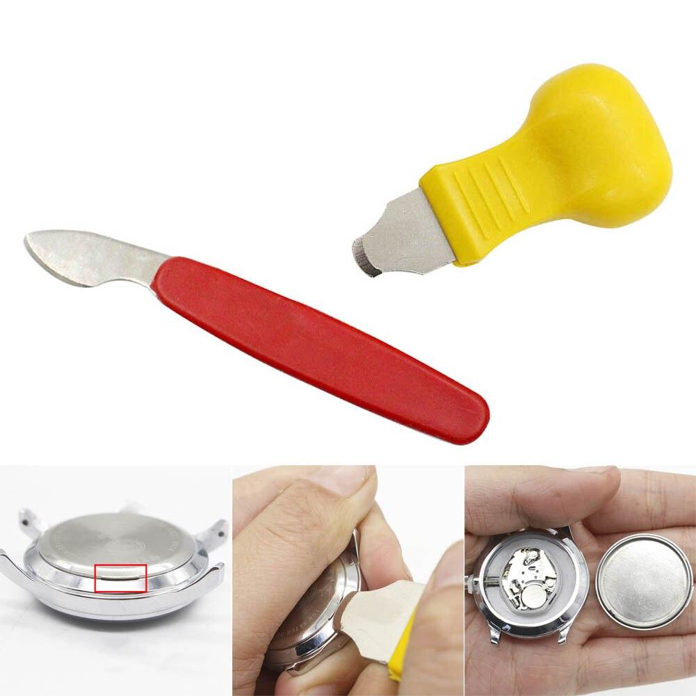 De plástico de acero inoxidable Kit de herramientas de reparación de relojes reloj del abridor caso cubierta removedor de Wathes herramientas de reparación de accesorios de VL