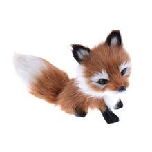 Nouveau 12*6*8.5cm petite Simulation renard jouet Mini Squatting renard modèle décoration de la maison de mariage cadeau danniversaire