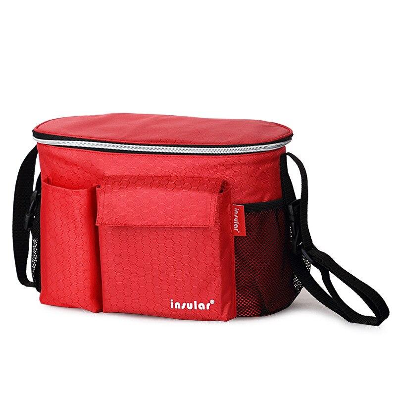 Insular preto/vermelho isolado sacos de fraldas do bebê mensageiros carrinho de criança saco organizador enfermagem múmia fralda titular copo 2018 co