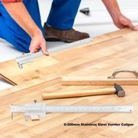 0-200mm Stainless Steel Vernier Caliper With Carbide Scriber Parallel Marking Gauging Ruler Measuring Tools