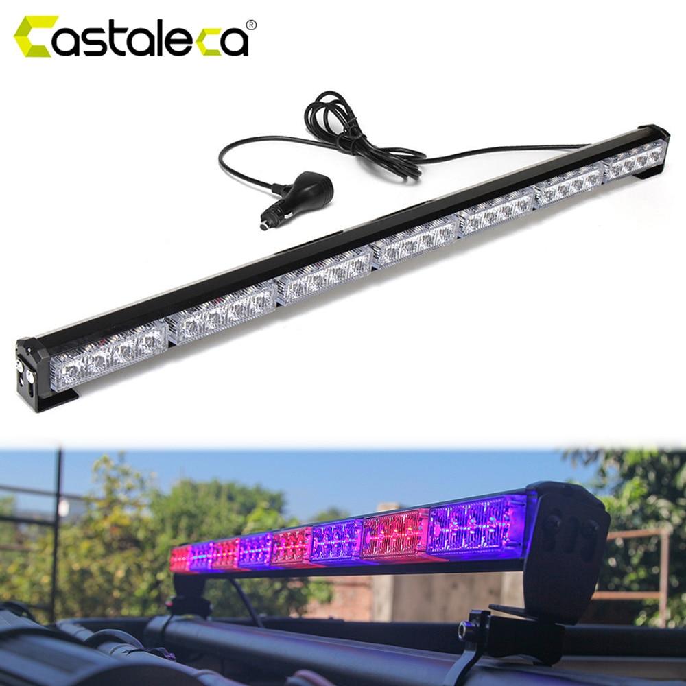 Castaleca Automotivo LED Strobe Lights Front/Rear Police Warning Signal Fog Lamp Flashing Light Bar Car Styling New Universal