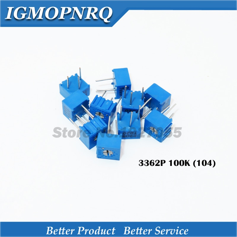 10 pçs/lote 3362P-1-104LF 3362P 104 100K ohm Trimpot Trimmer Potenciômetro resistor Variável original novo