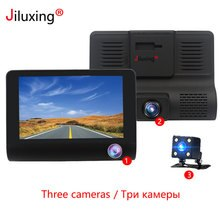 "Jiluxing 4 ""1080P 3 카메라 자동차 Dvr 대시 카메라 듀얼 렌즈 Rearview 카메라 비디오 레코더 대시 캠 자동 등록자 dvr"