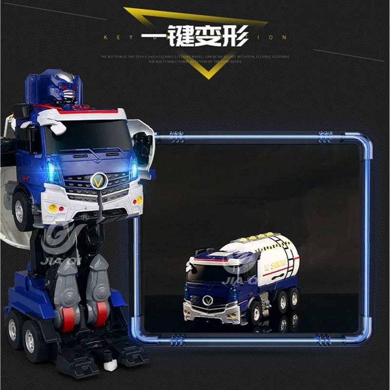 Transformador de control remoto para niños, motor rociador que cambia, coche de...