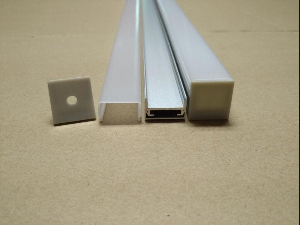 Envío Gratis, perfil de aluminio led, canal de aluminio para disipador de calor de tira led, 2,5 m/unids, 75 m/lote