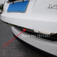 For 2010-2016 Hyundai ix35 Door Sticker Stainless Steel Tail door trim Car Styling Accessories