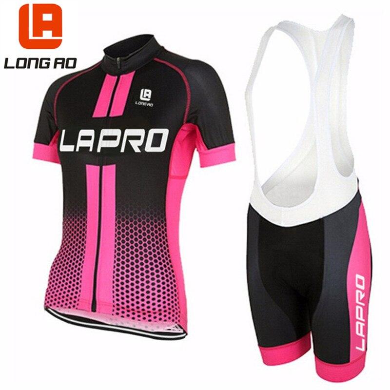 LONG AO 2019 camiseta de Ciclismo jersey de las mujeres de verano de manga corta Ropa de Ciclismo/deportes de bicicleta Ropa de Ciclismo