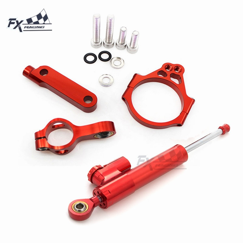 CNC estabilizador para motocicleta dirección soporte de montaje de amortiguador Kit soporte para Kawasaki VERSYS 1000, 2012, 2013, 2014, 2015, 2016