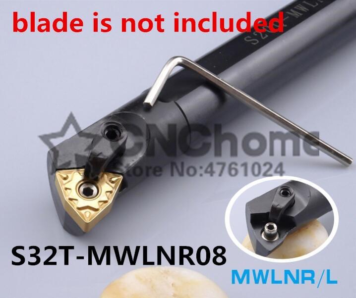 S32T-MWLNR08/ S32T-MWLNL08 32mm Lathe Cutting Tools CNC Turning Tool Machine Tools Internal Metal Lathe Tool Boring Bar MWLNR/L