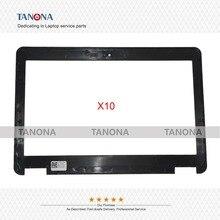 10 unids/lote nuevo para Dell Latitude E7240 portátil LCD bisel funda para pantalla frontal carcasa B Shell 04VCNC 4VCNC TUA01 negro