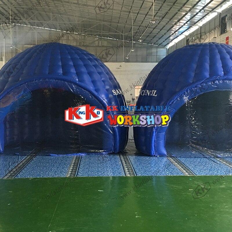 KK-خيمة قبة كوخ الإسكيمو ، إضاءة قابلة للنفخ ، حفلة ، خيمة عملاقة قابلة للنفخ للأنشطة الخارجية