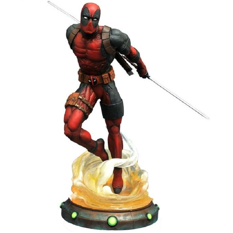 Marvel Deadpool 2 estatua PVC Diorama galería diamante seleccionar juguetes figura coleccionable modelo de juguete