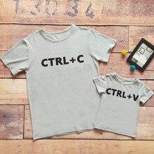 Babyinstar T-shirt père & Me   Tenue pour famille, imprimé mignon avec