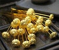 lyz zan hua little flower sticks traditional chinese hand carving copper hair sticks hanfu hair accessories 4pcslot