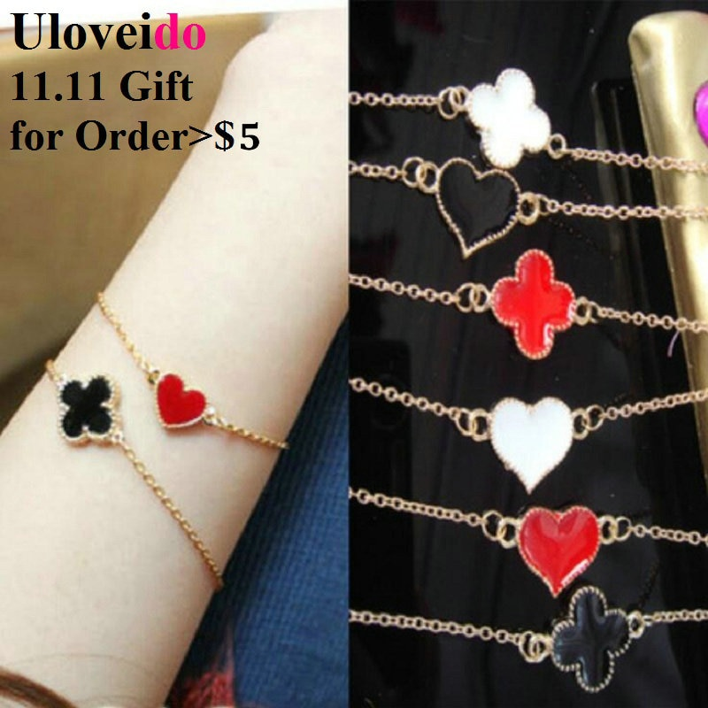 11.11 Promotion Gift for Order More than $5 Clover Heart Butterfly Bracelets for Women-Color and Sha