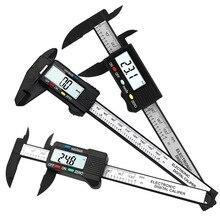 150mm 100mm Vernier étrier jauge 6/4 pouces 0.1mm précision LCD numérique électronique étrier en Fiber de carbone micromètre outils de mesure