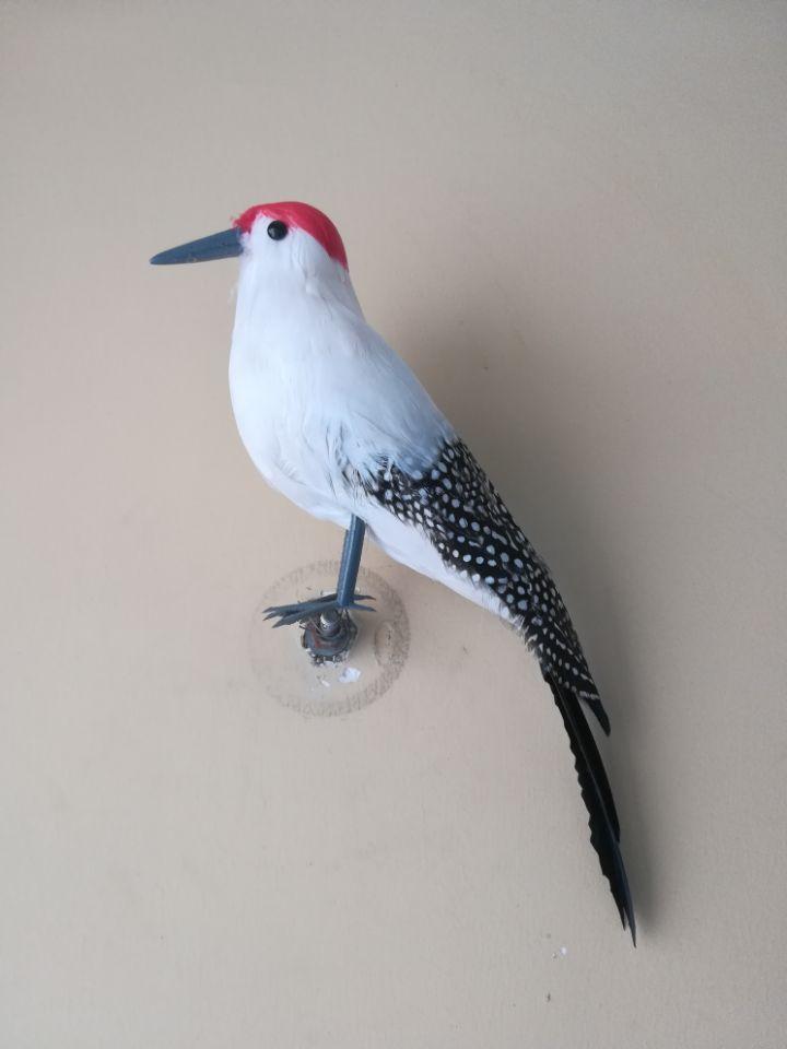 foam&feathers woodpecker simulation bird large 30cm wood pecker model prop.home garden decoration Xmas gift b0524