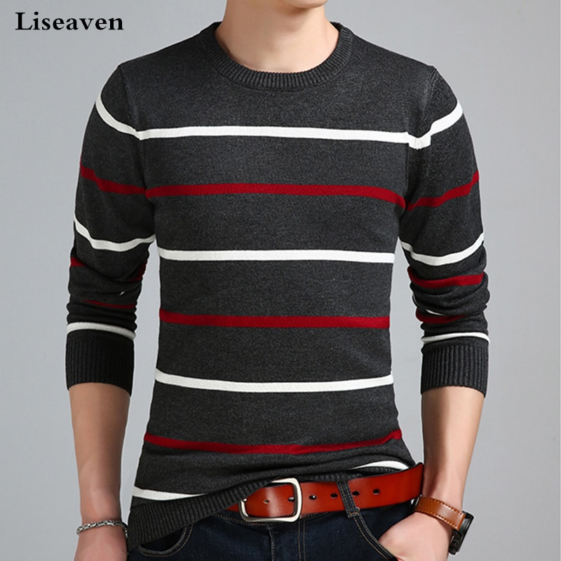 Мужской пуловер Liseaven, свитер для мужчин, одежда для мужчин, пуловер