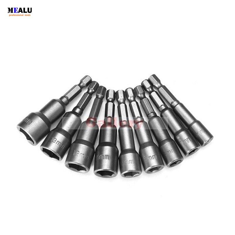 3 Sets Lot 9pcs 6-14mm Cr V Hex Magnetic Power Socket Nut Setters Makita Tools Accessories 6 Wifi Makita Power Tools Power Tools