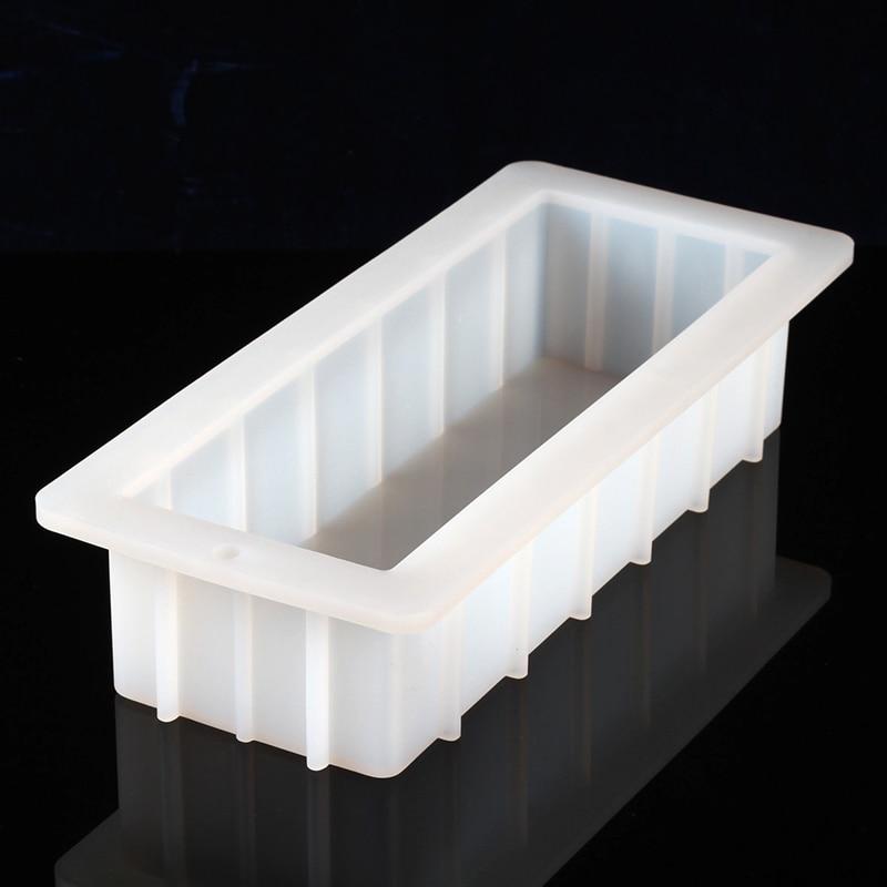 Molde rectangular de silicona para jabón 40 onzas 10 Flexible fácil extracción molde para el pan blanco