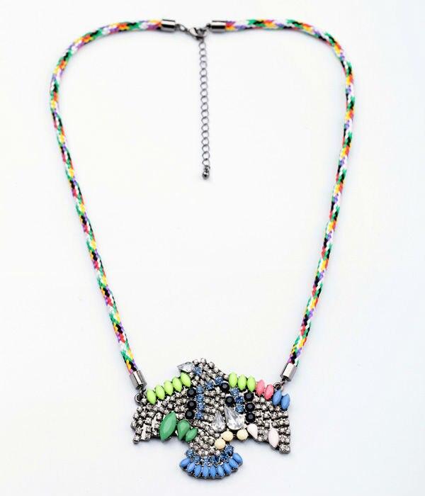 Kiss me novos estilos 2013 moda jóias trançado corda águia pingente moda colar