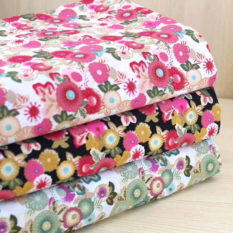 Бархатный хлопок, чесаный хлопок, поплин, ткань, сделай сам, цветы из ткани ручной работы, штамп, серия, пэчворк (4 шт./лот)