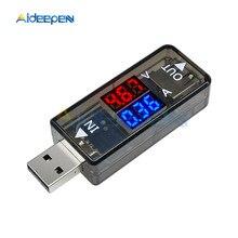 1 pièces USB Double voltmètre numérique ampèremètre 5V Double téléphone portable alimentation charge courant tension testeur détecteur mètre ampèremètre