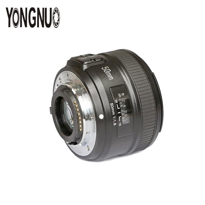 YONGNUO YN50MM F1.8 gran apertura lente de enfoque automático para Nikon D800 D7000 D7100 D700 D3200 D3300 D5100 D5200 D5300 cámaras DSLR