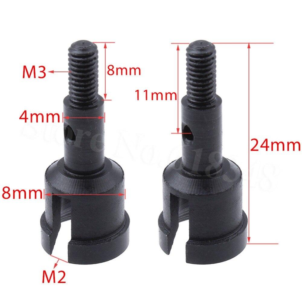 4 Uds 1/18 WLtoys A959 eje de rueda 4P piezas de mejora de aluminio para A949 A969 A979 reemplazo de A949-30 piezas de coche RC