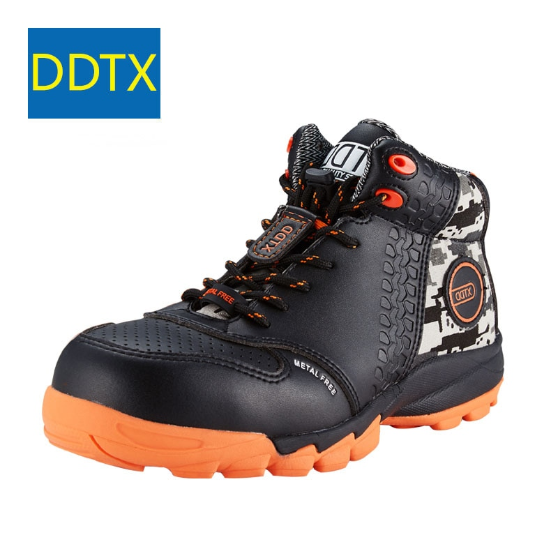 DDTX-أحذية أمان للرجال ، أحذية عمل خفيفة الوزن وخالية من الثقوب ومضادة للكهرباء الساكنة ، لون أسود ، S1P