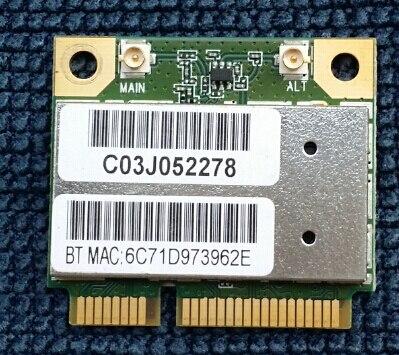 AzureWave AW-NB097H AW-NB100H AW-NB126H AR9485 AR3012 AR5B225 mitad Mini PCI-E 150Mbps Wifi Wlan + BT4.0 tarjeta inalámbrica