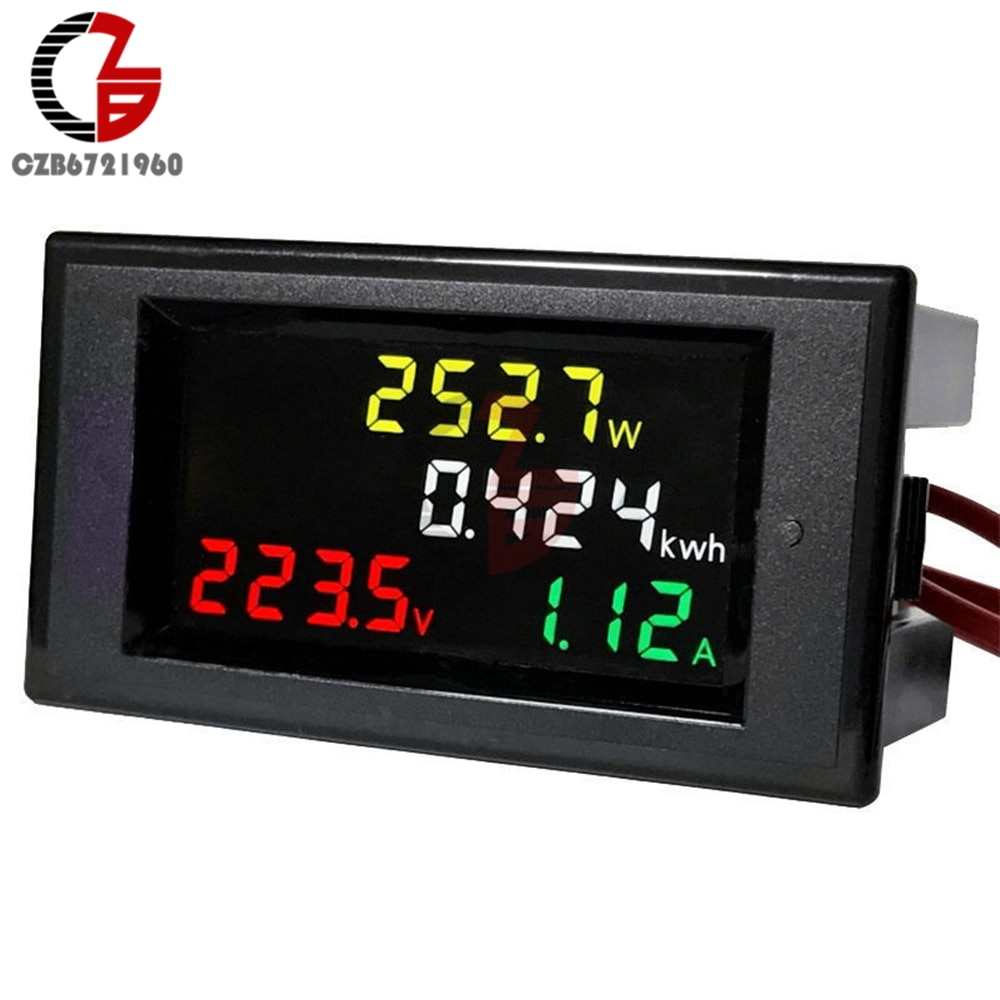 HD LCD Digital Multifunciton Voltmeter Amperemeter Spannung Strom Power Leistung Meter Volt Amp Detektor Monitor Gauge AC 110V 220V