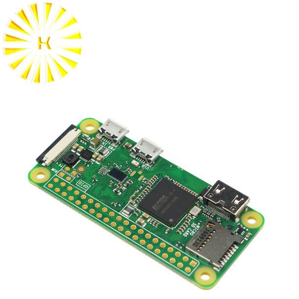 Raspberry Pi Zero W 2018 ، وحدة المعالجة المركزية 1 جيجاهرتز ، ذاكرة وصول عشوائي 512 ميجابايت ، مع موصل RPI 0 W ، واي فاي مدمج وبلوتوث