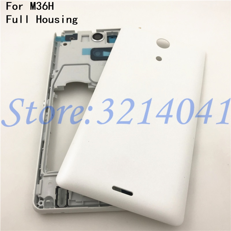 Новинка для Sony Xperia ZR M36H C5502 C5503 крышка батареи задняя Задняя Дверь Корпус чехол + ЖК средняя рамка Шасси Замена пластины