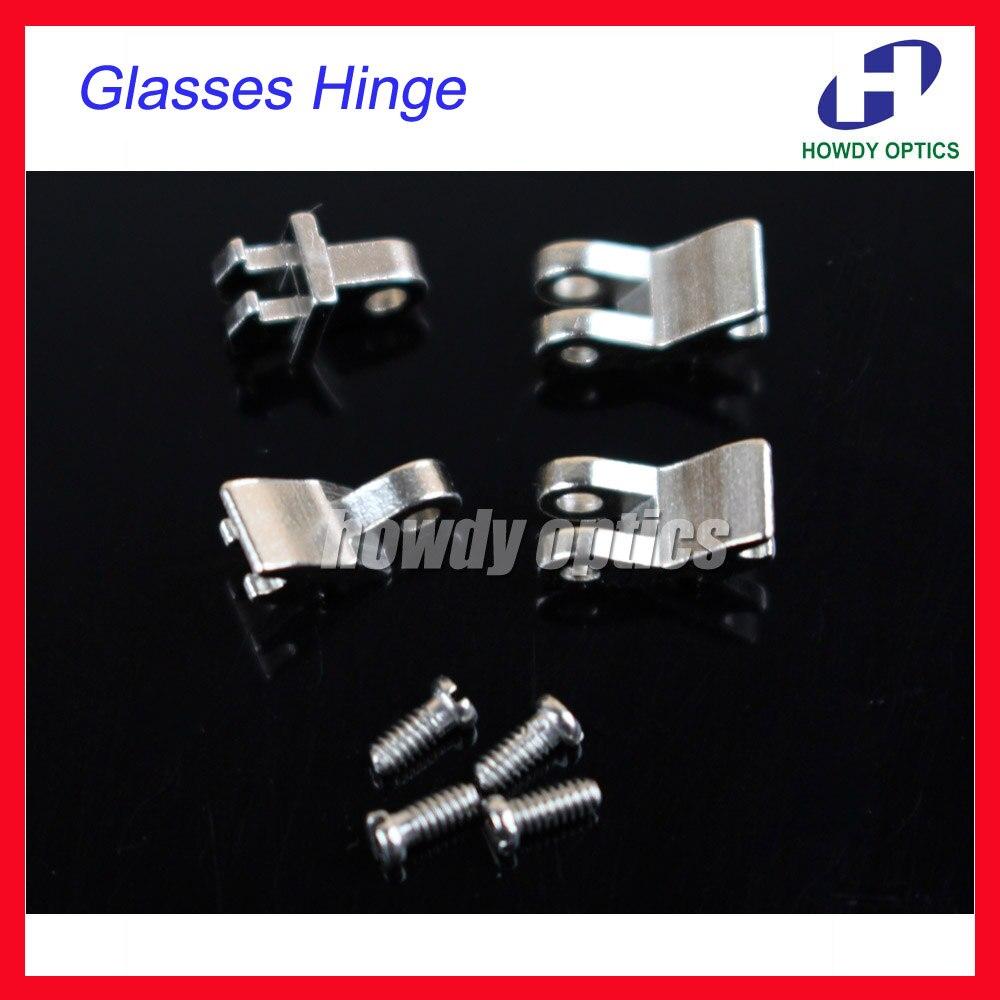 Envío Gratis 50 set/lote cobre gafas anteojos bisagra tornillos para vasos de plástico de reparación accesorios ópticos
