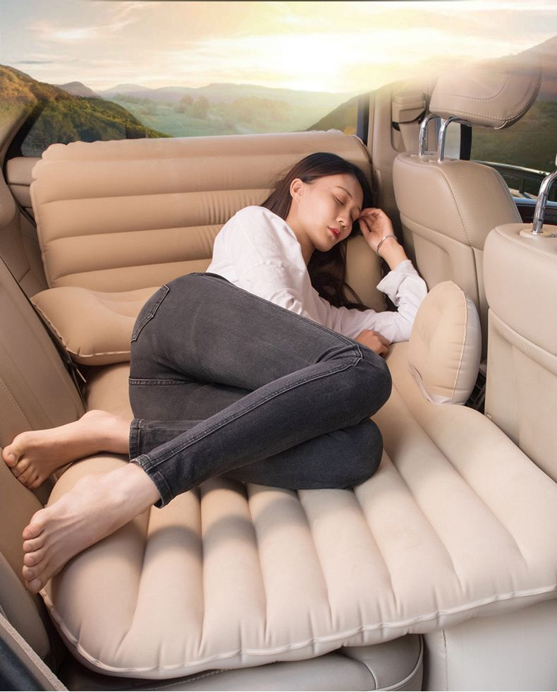 Car Back Seat Cover Air Mattress Travel Bed Inflatable Mattress Good Quality Camping packing bag 201