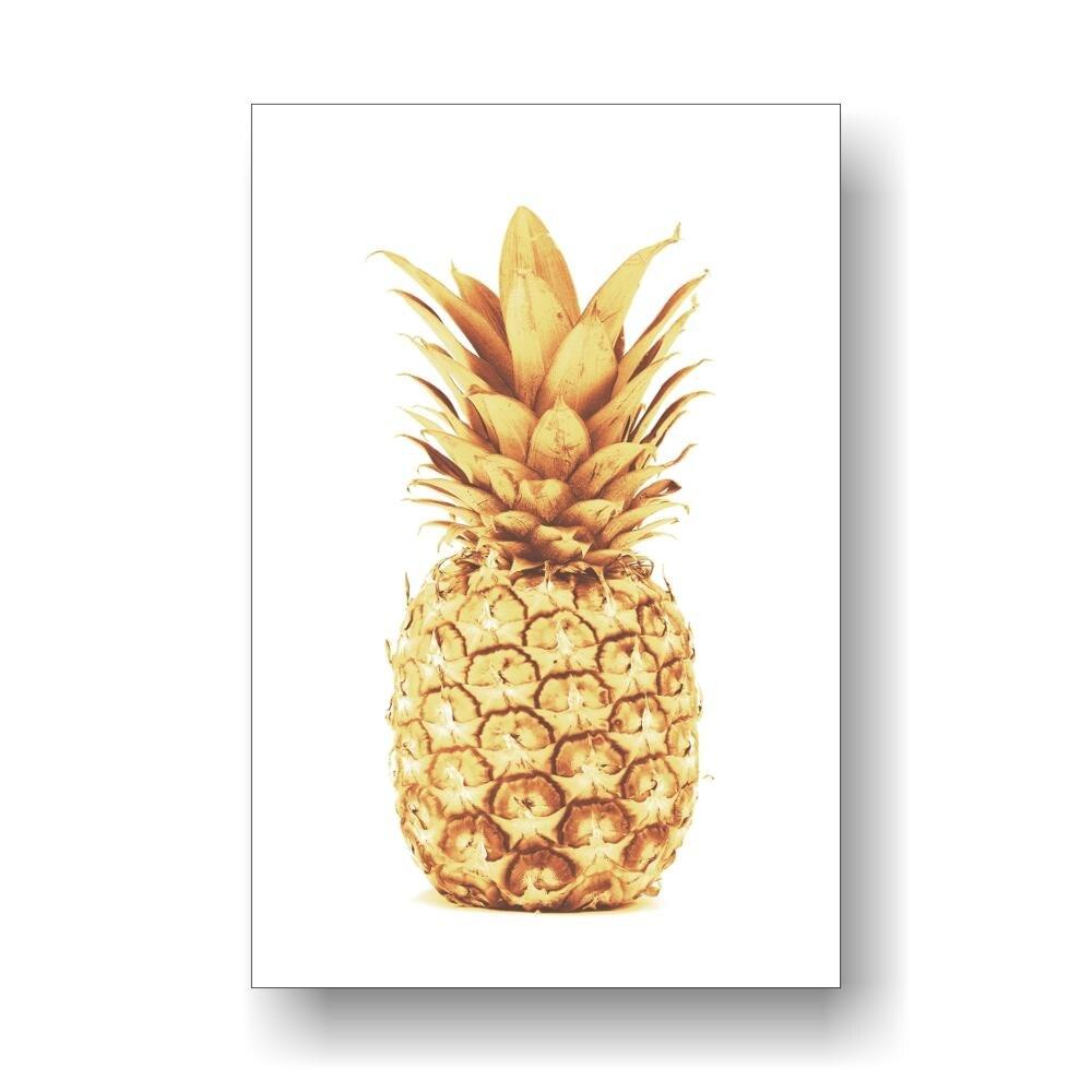 Iskandinav tarzı ananas baskı posteri altın ananas sanat tropikal baskı sanat kız kreş ananas dekor mutfak dekoru