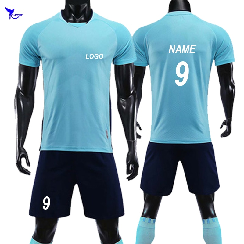 Personalizable 2019, camisetas de fútbol para niños y hombres, uniformes de fútbol para niños, conjuntos de entrenamiento de fútbol para niños, transpirables, chándal deportivo para niños