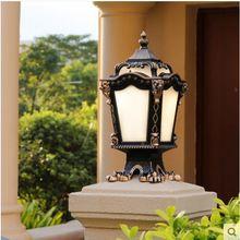 Columna Europea faros exteriores valla puerta Pilar lámpara impermeable exterior jardín patio paisaje Luz