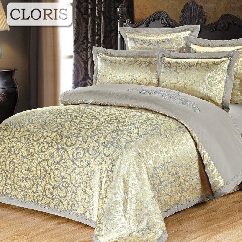 CLORIS, известный роскошный брендовый атласный комплект постельного белья, русская поставка, новый модный дизайнерский хлопковый комплект по...