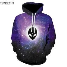 TUNSECHY Skull 3D Digital printing Hoodies Sweatshirt Men's Pullover Autumn Winter Hip Hop Tracksuit Hoodie Free transportation