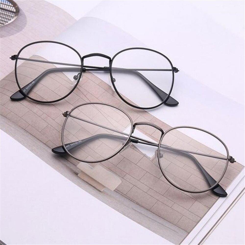 Винтажные круглые очки в оправе Ретро Женские брендовые дизайнерские очки gafas De Sol очки простые очки Gafas очки