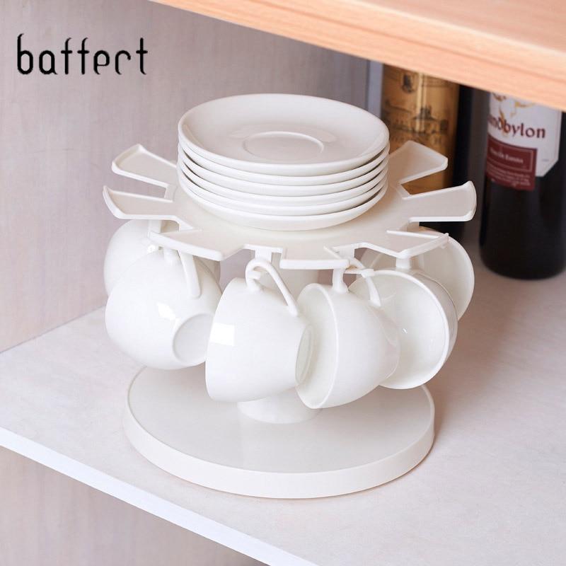 Novo ferro copo de café rack armazenamento cozinha organizador chapeamento pratos titular plástico canecas de água prateleira de armazenamento acessórios da cozinha