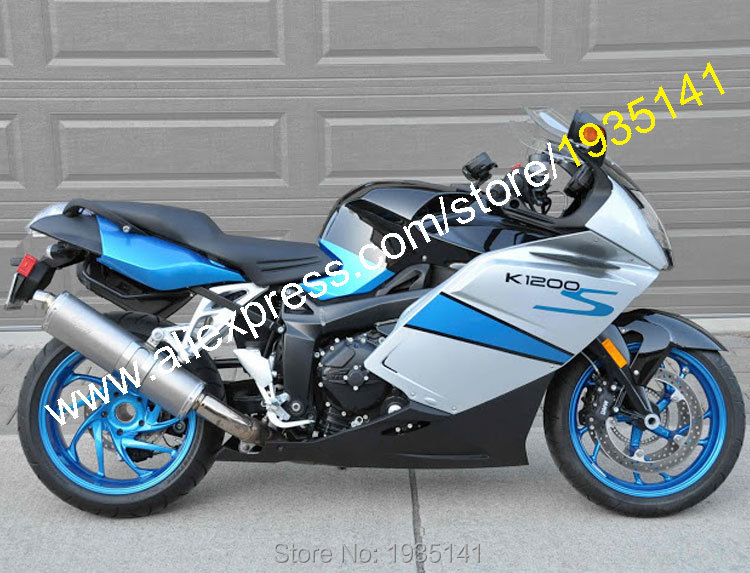 اكسسوارات BMW K1200S ، 2005 ، 2006 ، 2007 ، 2008 K ، 1200 S ، 05 ، 06 ، 07 ، 08 ، أزرق ، فضي ، أسود ، ما بعد البيع ، Sportbike