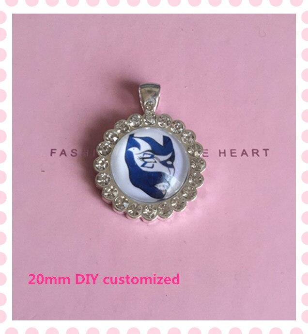 Zeta phi beta mask circle crystal pendant DIY ZPB clear rhinestone charm necklace sorority jewelry OPP013,1pcs sold
