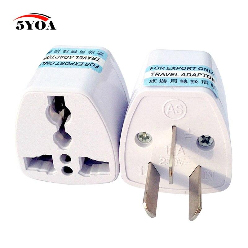 Qualità del Hight Power Travel Adapter Adattatore 3 pin US/UK/AU Caricatore Della Spina di UE AU convertitore Universale per L'australia e la Nuova Zelanda