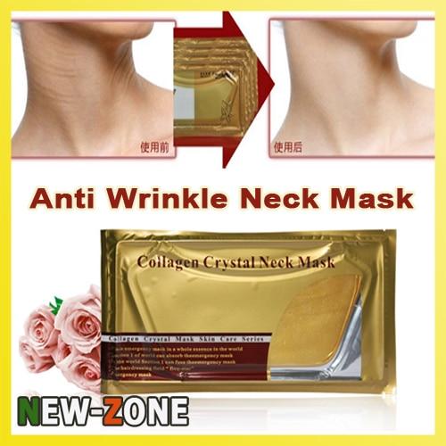 Anti Wrinkle Gold Activate Collagen Neck Mask Neck youthful Care Whitening & Moisturizing & Anti-aging 5PCS Free Shipping