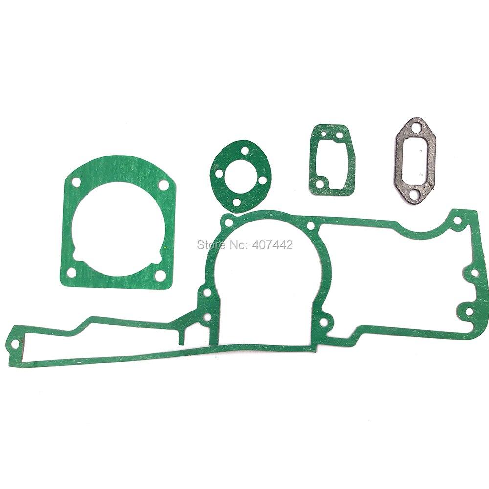 Kit de junta de silenciador de carburador múltiple de cilindro de cárter de motosierra compatible con husqq 61 66 162 266 268 272 reemplazo