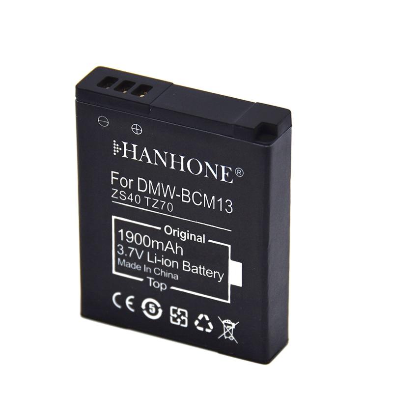 1900mAh DMW-BCM13E DMW-BCM13 BCM13 batería para Panasonic Lumix ZS40/TZ60... ZS45/TZ57... ZS50/TZ70... ZS27/TZ37... TZ41 DMC-ZS45